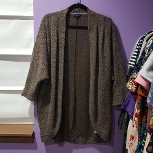 Brown Wool Blend Cocoon Sweater XL